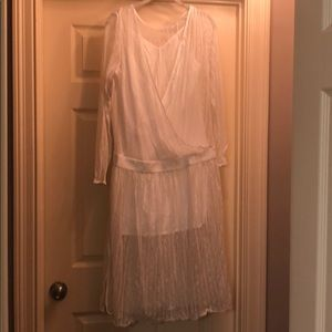 BRAND NEW white lace midi dress